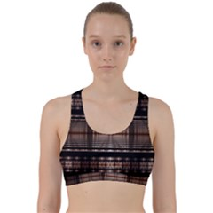 Fractal Fractal Art Design Geometry Back Weave Sports Bra