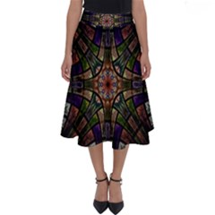 Fractal Detail Elements Pattern Perfect Length Midi Skirt