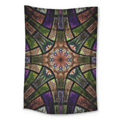 Fractal Detail Elements Pattern Large Tapestry by Celenk