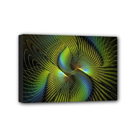 Fractal Abstract Design Fractal Art Mini Canvas 6  X 4  by Celenk