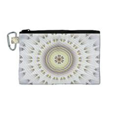 Mandala Fractal Decorative Canvas Cosmetic Bag (medium) by Celenk