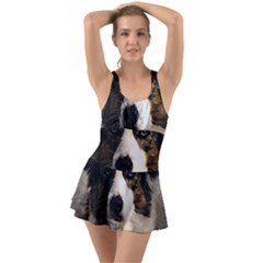Dog Pet Art Abstract Vintage Swimsuit