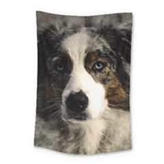Dog Pet Art Abstract Vintage Small Tapestry