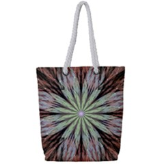 Fractal Floral Fantasy Flower Full Print Rope Handle Tote (small)
