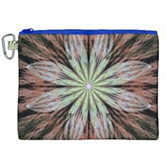 Fractal Floral Fantasy Flower Canvas Cosmetic Bag (xxl) by Celenk