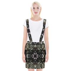Fractal Design Pattern Texture Braces Suspender Skirt
