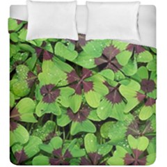 Luck Klee Lucky Clover Vierblattrig Duvet Cover Double Side (king Size) by Celenk