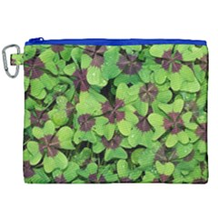 Luck Klee Lucky Clover Vierblattrig Canvas Cosmetic Bag (xxl) by Celenk