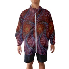 Fractal Red Fractal Art Digital Art Wind Breaker (kids)