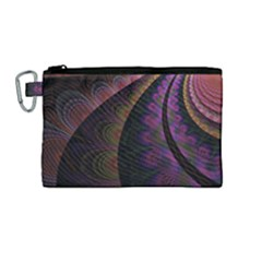 Fractal Colorful Pattern Spiral Canvas Cosmetic Bag (medium) by Celenk