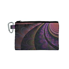 Fractal Colorful Pattern Spiral Canvas Cosmetic Bag (small) by Celenk