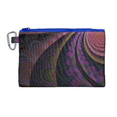 Fractal Colorful Pattern Spiral Canvas Cosmetic Bag (large) by Celenk