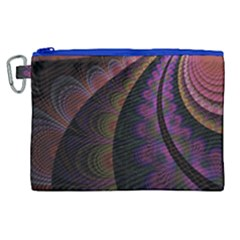 Fractal Colorful Pattern Spiral Canvas Cosmetic Bag (xl) by Celenk