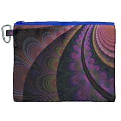 Fractal Colorful Pattern Spiral Canvas Cosmetic Bag (xxl) by Celenk