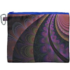 Fractal Colorful Pattern Spiral Canvas Cosmetic Bag (xxxl) by Celenk