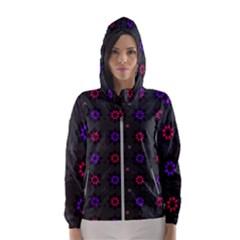 Funds Texture Pattern Color Hooded Wind Breaker (women)