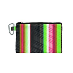 Abstract Background Pattern Textile Canvas Cosmetic Bag (small) by Celenk