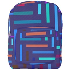 Lines Line Background Abstract Full Print Backpack
