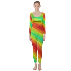 Graphic Kaleidoscope Geometric Long Sleeve Catsuit by Celenk