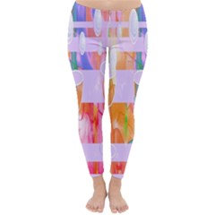 Watercolour Paint Dripping Ink Classic Winter Leggings by Celenk