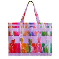 Watercolour Paint Dripping Ink Zipper Mini Tote Bag by Celenk