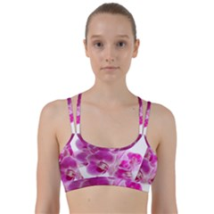 Orchid Phaleonopsis Art Plant Line Them Up Sports Bra