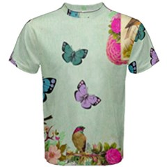 Whimsical Shabby Chic Collage Men s Cotton Tee by 8fugoso