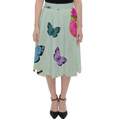 Whimsical Shabby Chic Collage Folding Skater Skirt