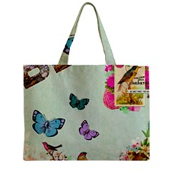 Whimsical Shabby Chic Collage Medium Tote Bag by 8fugoso