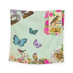 Whimsical Shabby Chic Collage Square Tapestry (small) by 8fugoso