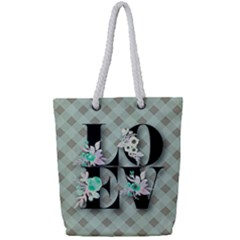 Rustic Love Full Print Rope Handle Tote (small)