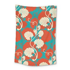 Floral Asian Vintage Pattern Small Tapestry