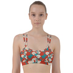 Floral Asian Vintage Pattern Line Them Up Sports Bra