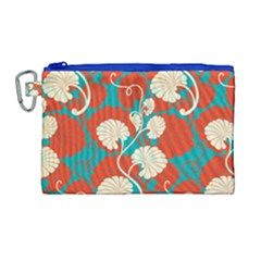 Floral Asian Vintage Pattern Canvas Cosmetic Bag (large) by 8fugoso