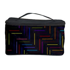 Lines Line Background Cosmetic Storage Case by Celenk