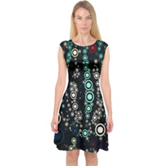 Modern Art Design Digital Capsleeve Midi Dress