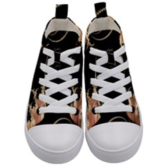 Fractal Art Design Pattern Texture Kid s Mid Top Canvas Sneakers