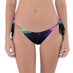 Fractals Spirals Black Colorful Reversible Bikini Bottom by Celenk