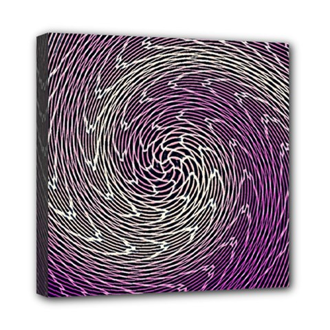 Graphic Abstract Lines Wave Art Mini Canvas 8  X 8  by Celenk
