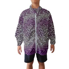 Graphic Abstract Lines Wave Art Wind Breaker (kids)