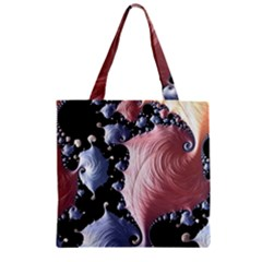 Fractal Art Design Fantasy Science Zipper Grocery Tote Bag