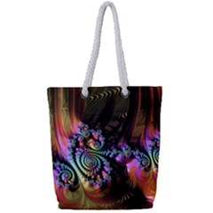 Fractal Colorful Background Full Print Rope Handle Tote (small)