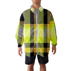 Tartan Abstract Background Pattern Textile 5 Wind Breaker (kids)