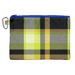 Tartan Abstract Background Pattern Textile 5 Canvas Cosmetic Bag (xl) by Celenk