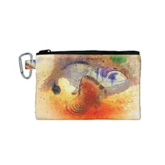 Dirty Dirt Image Spiral Wave Canvas Cosmetic Bag (small) by Celenk