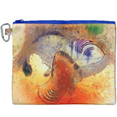 Dirty Dirt Image Spiral Wave Canvas Cosmetic Bag (xxxl) by Celenk