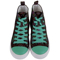 Pattern Abstract Art Decoration Women s Mid Top Canvas Sneakers