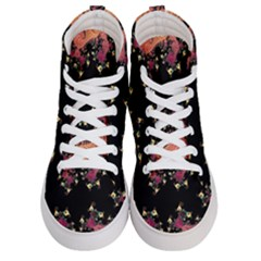 Fractal Fantasy Art Design Swirl Men s Hi Top Skate Sneakers