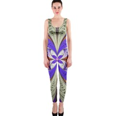 Fractal Splits Silver Gold Onepiece Catsuit by Celenk