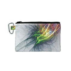 Fractal Art Paint Pattern Texture Canvas Cosmetic Bag (small)
